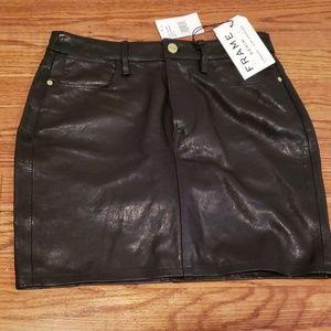 Leather Skirt NWT- FRAME Denim